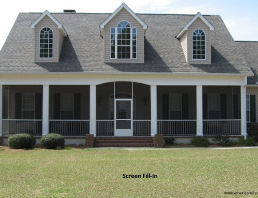 Huge house with screened in porch