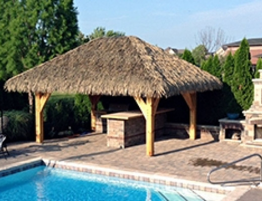 Tiki bar area by pool