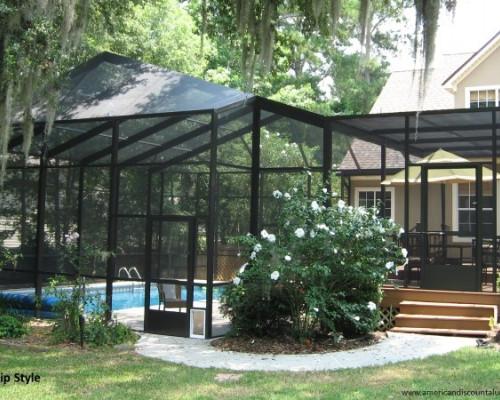 Gable-hip style enclosure